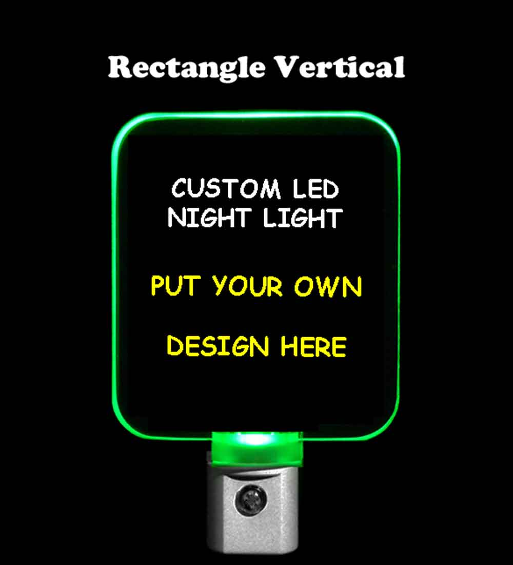 Rectangle Custom Night Light - Design your own light