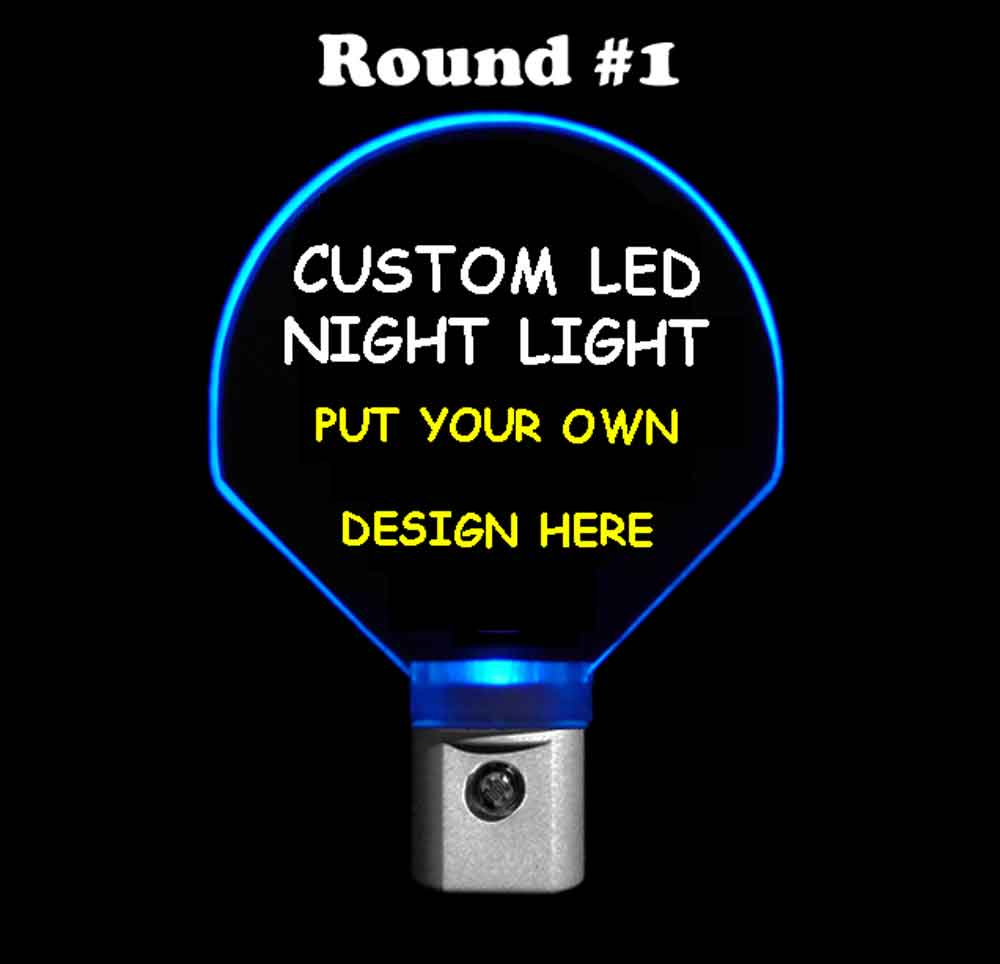 Round Custom Night Light - Design your own light