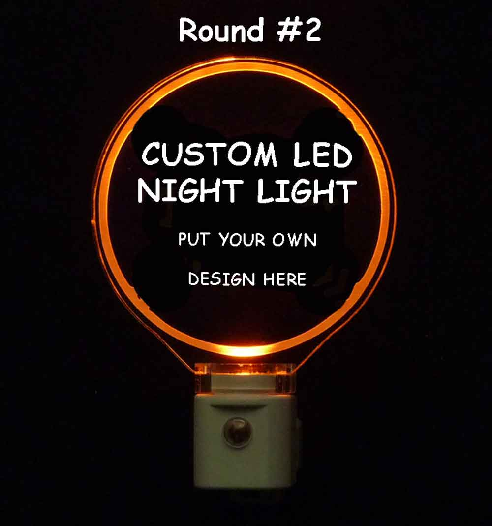 Custom Round Night Light - Design your own light