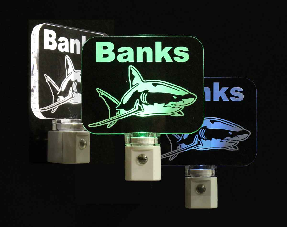 Personalized Shark LED Night Light