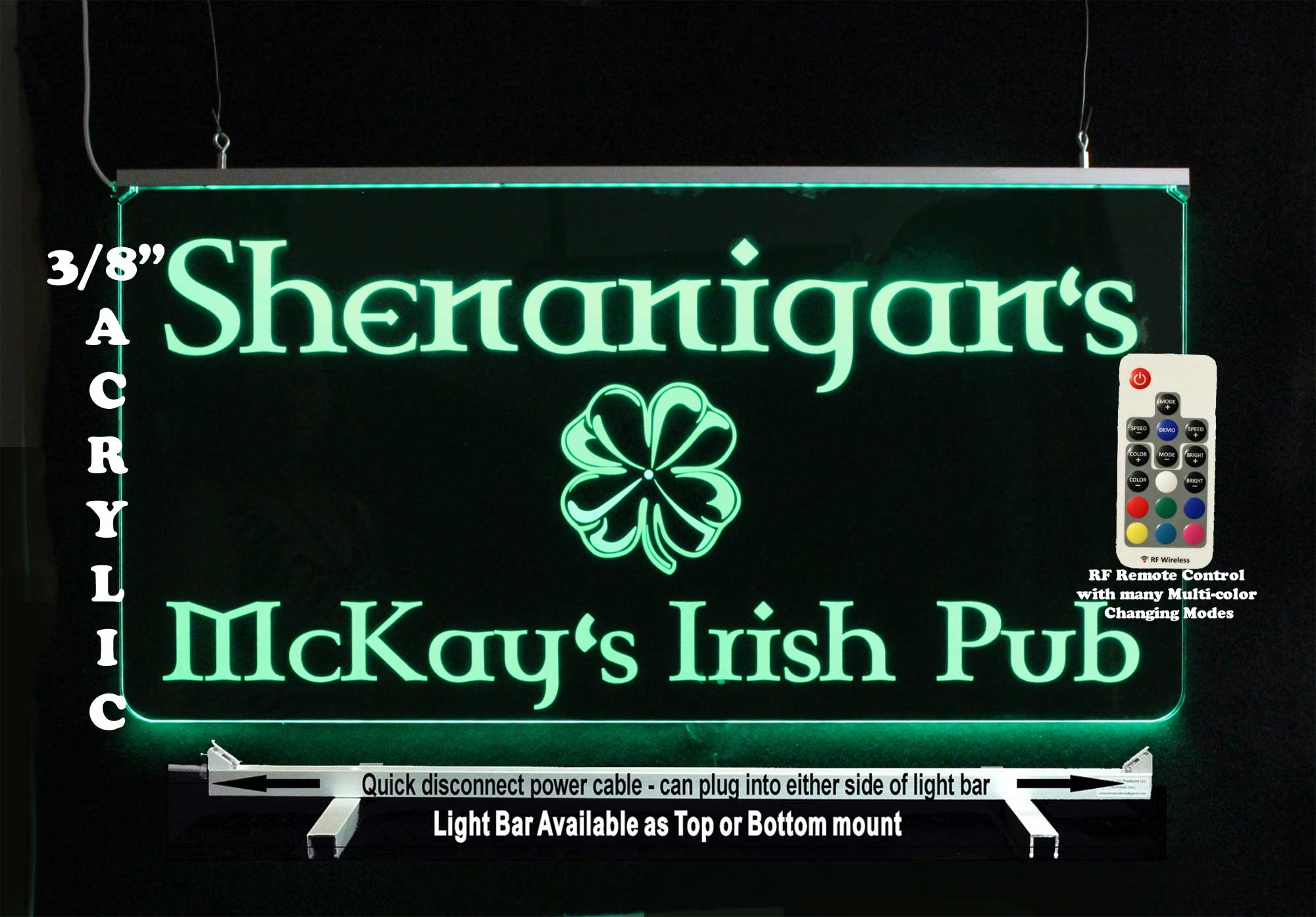 Custom Irish sign