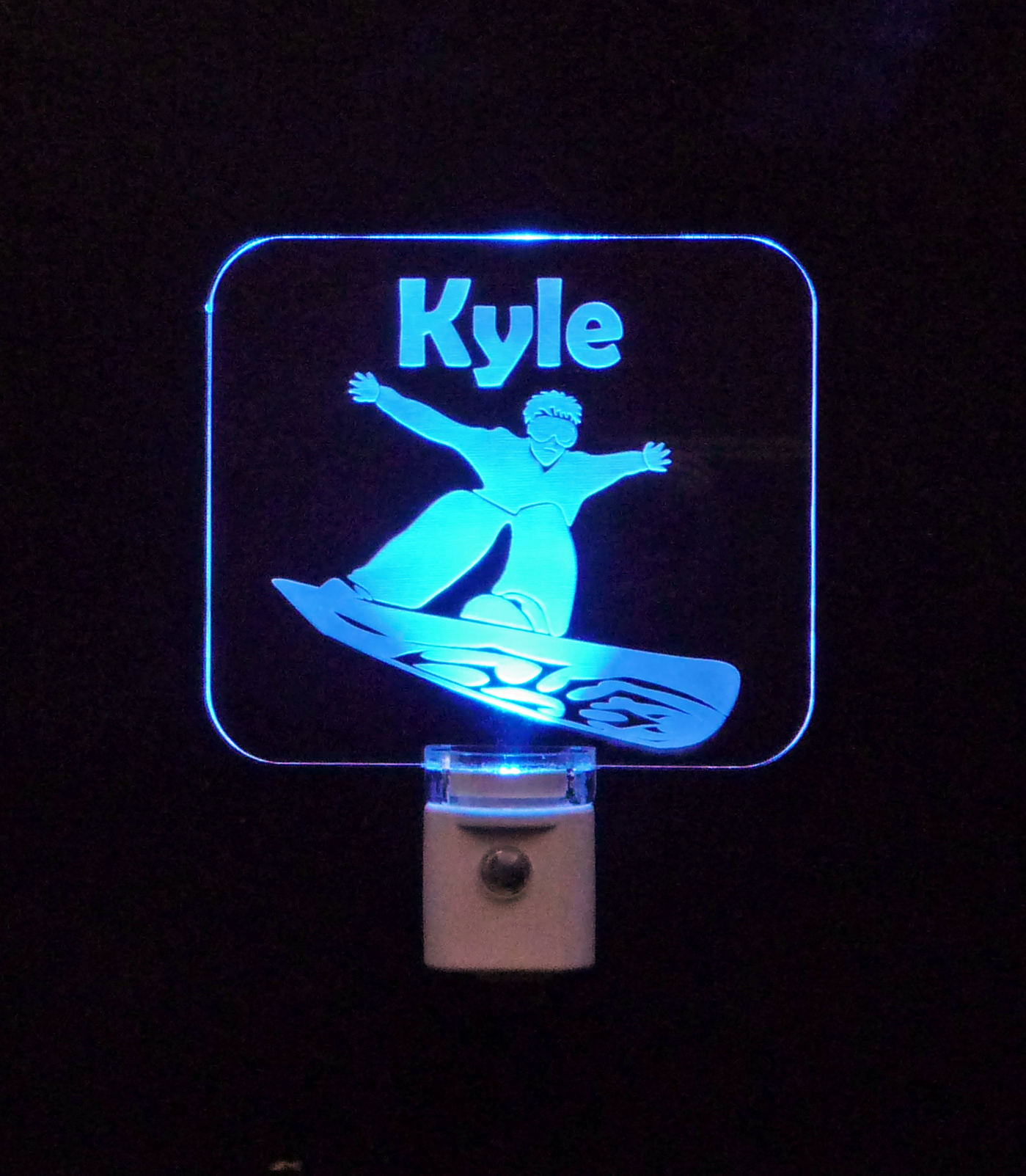 Snowboarder Personalized LED Night Light