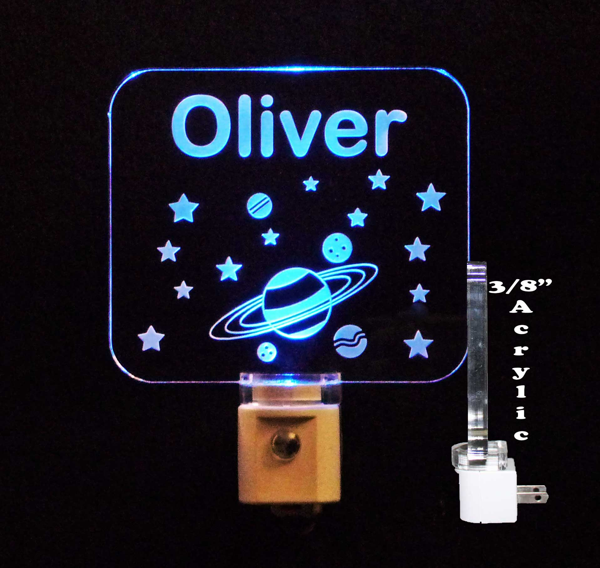 Outer Space, Solar System Personalized LED Night Light