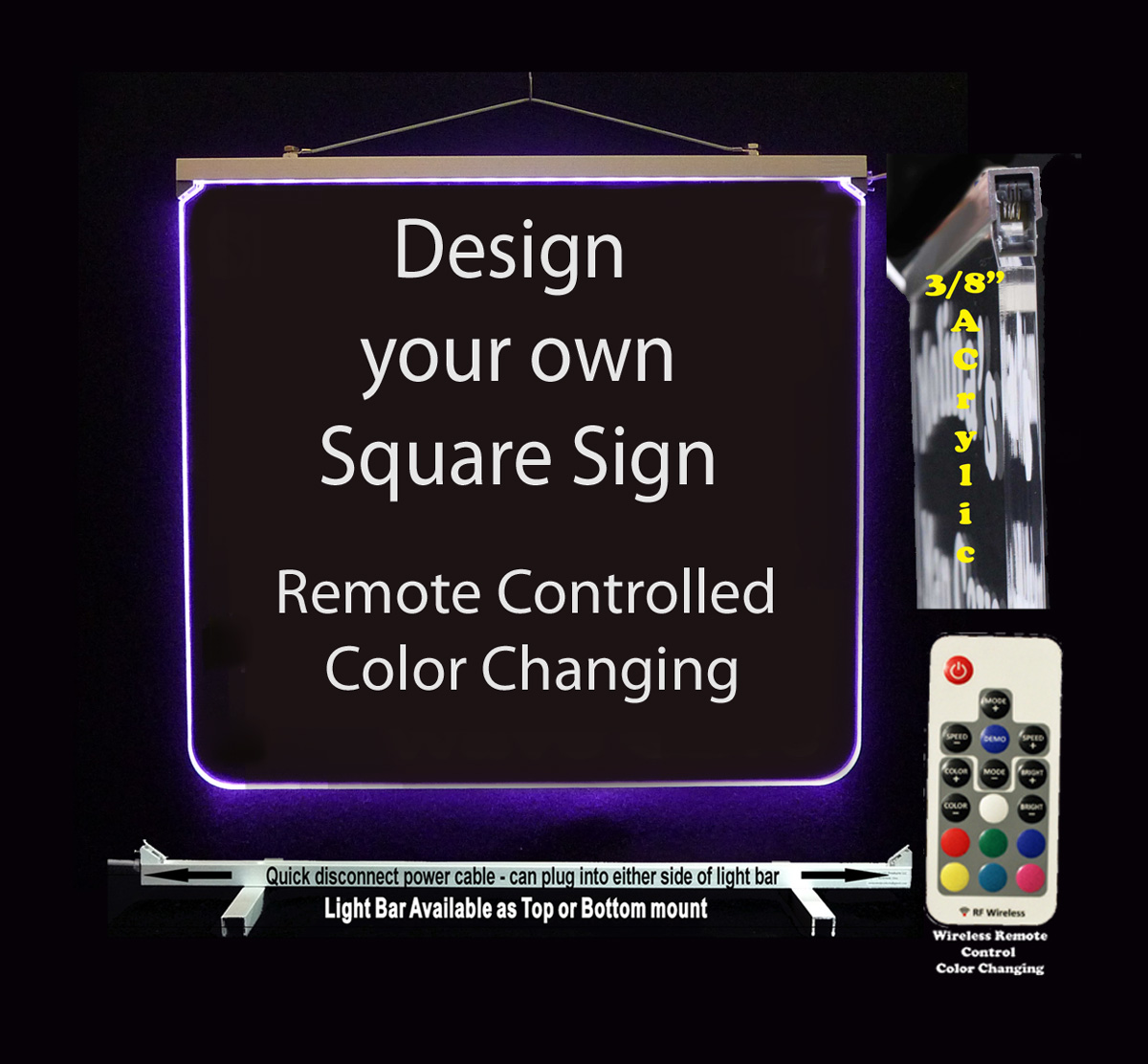 Custom LED Sign Design your own Lighted sign. Acrylic LED Neon sign