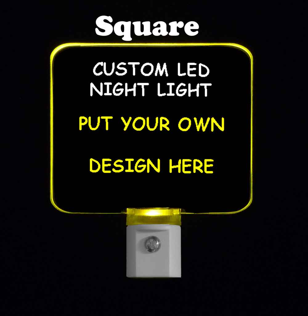 Custom Square Night Light - Design your own light