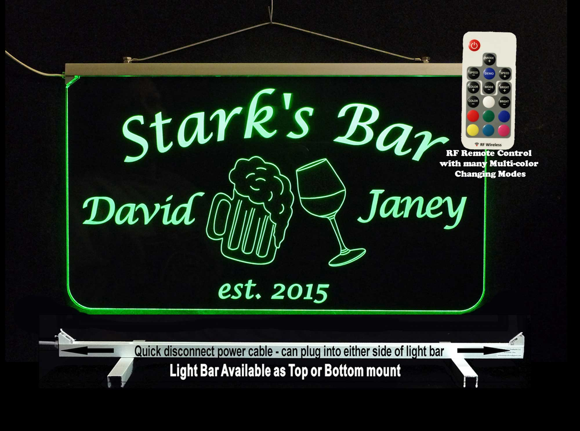 Personalized Beer Mugs, Wine Glass, Bar Sign