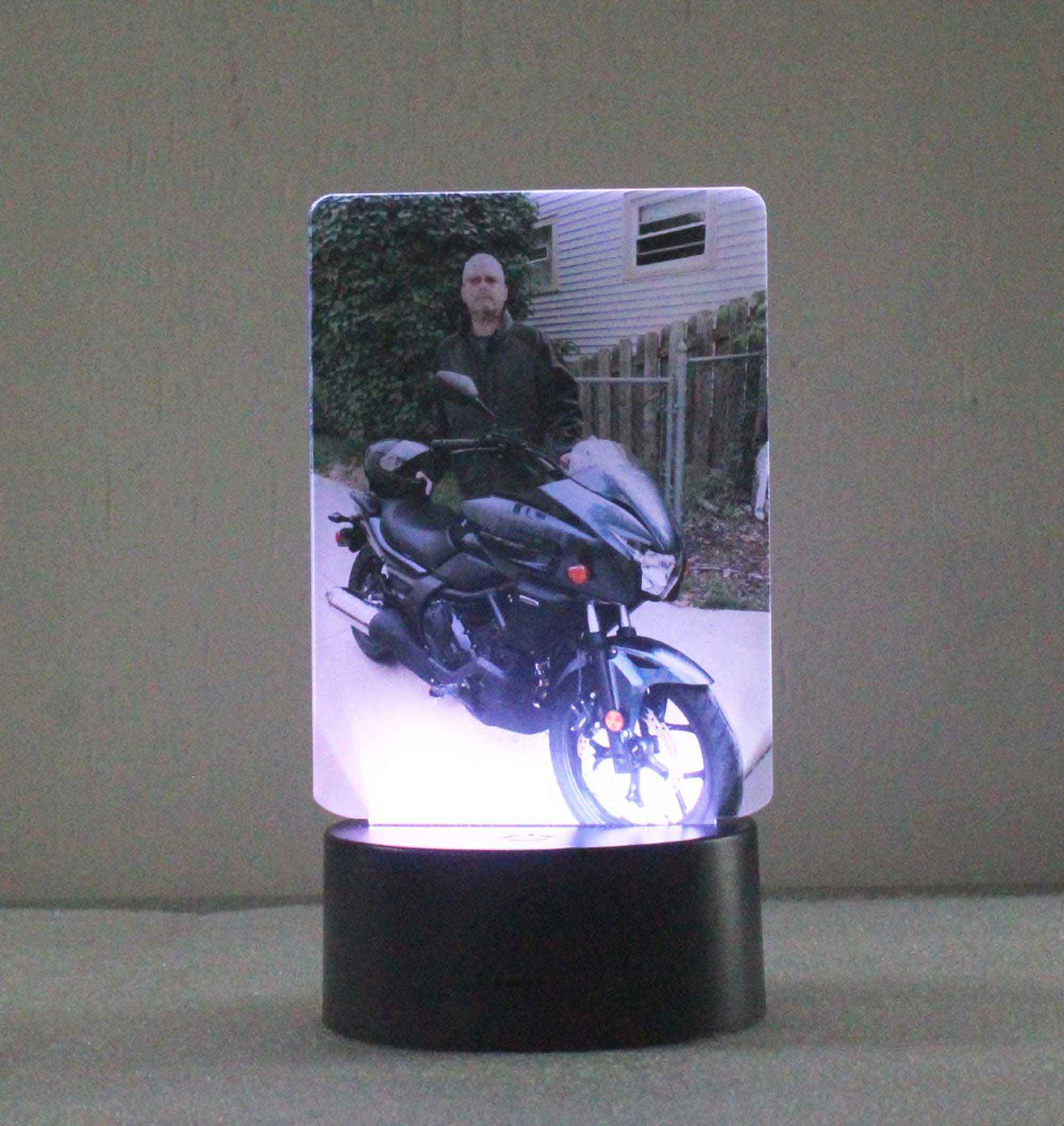 Photo Night Light, UV Printed Acrylic - Multi-color changing USB/110V/Battery