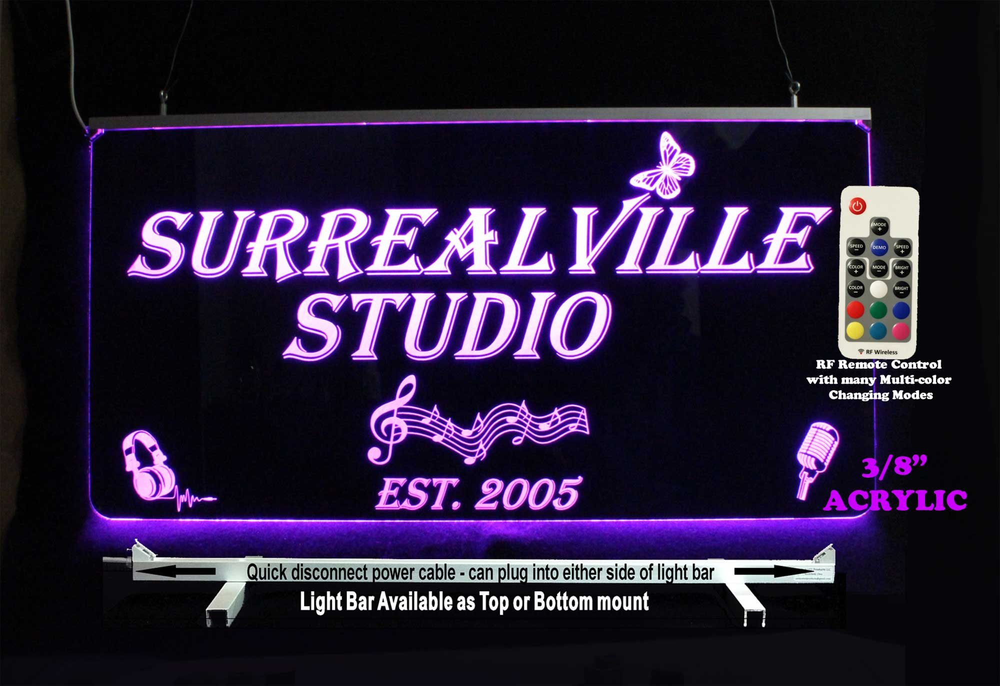 Custom Sign, LED Man cave music sign
