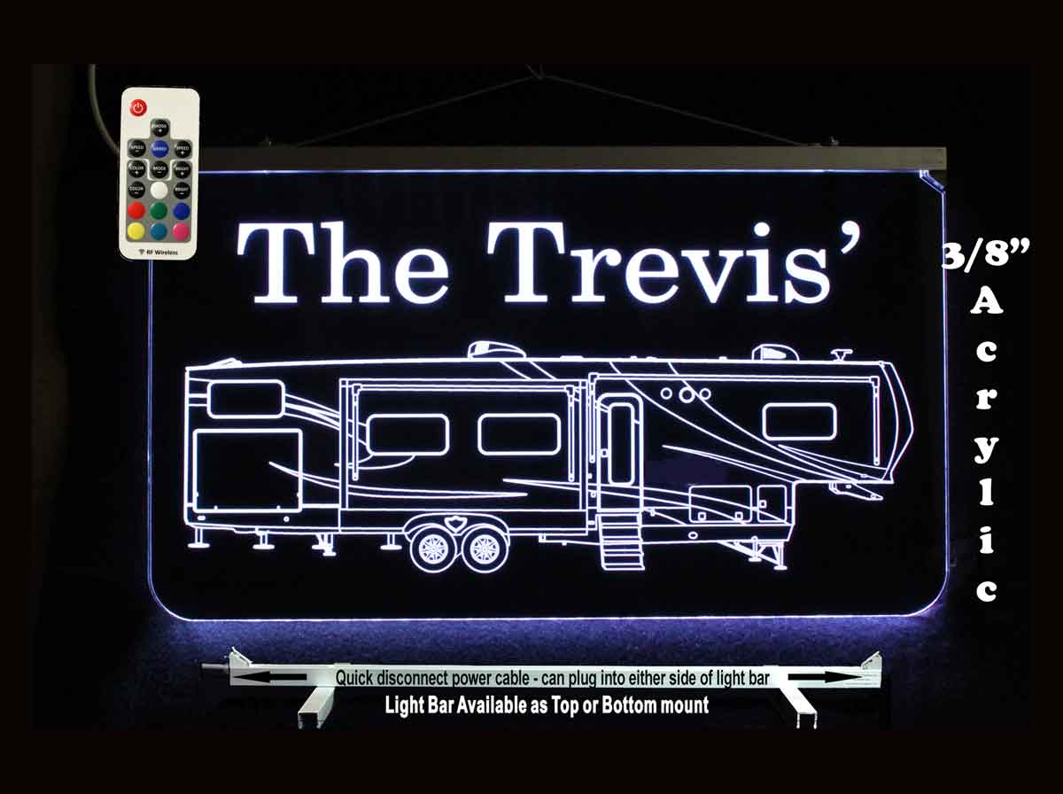 Custom Personalized RV Man Cave Sign - Camping Sign