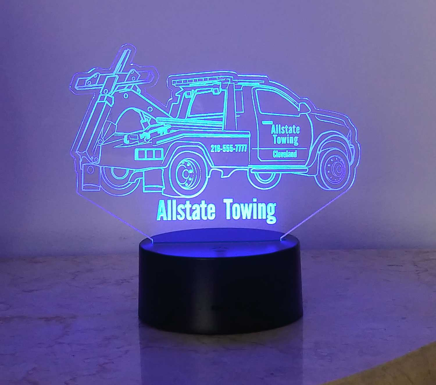 Tow Truck night light,  USB/110V/240V battery operated