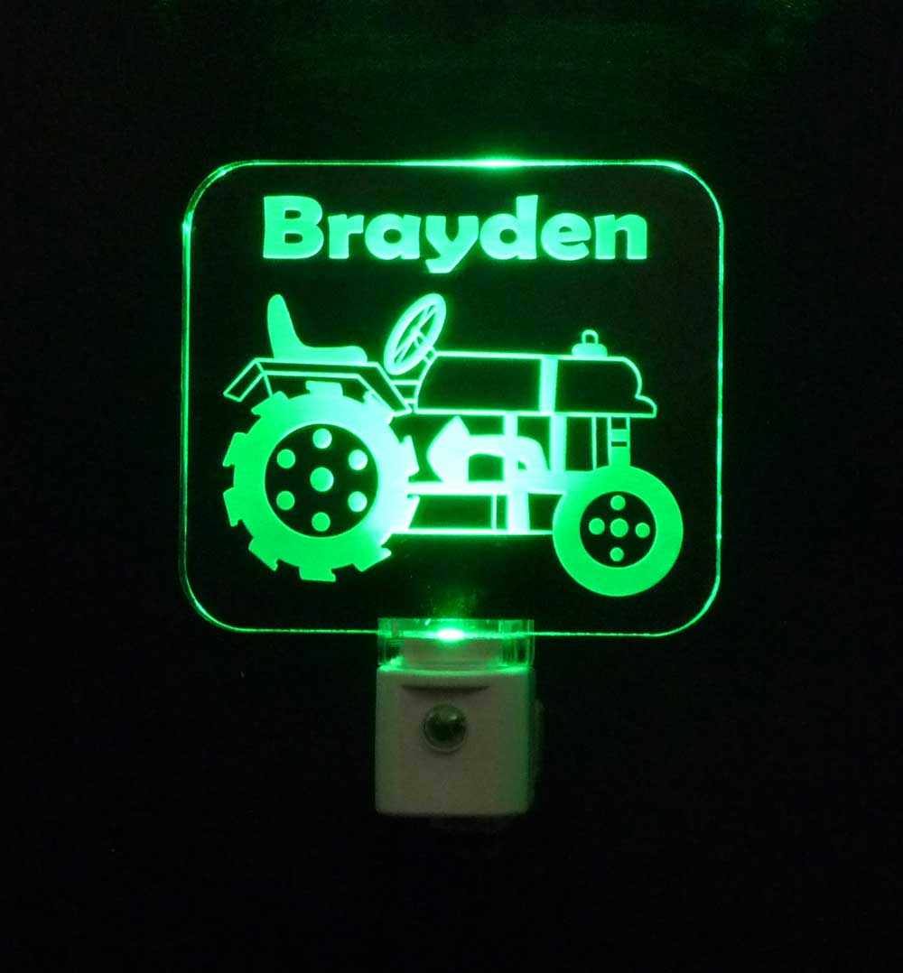 Tractor Personalized Night Light LED Lamp for Kids