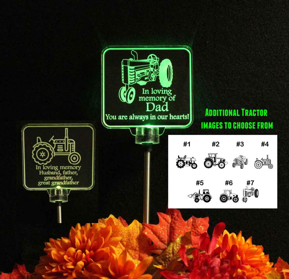 Garden light Grave marker Train Custom Personalized Solar Light