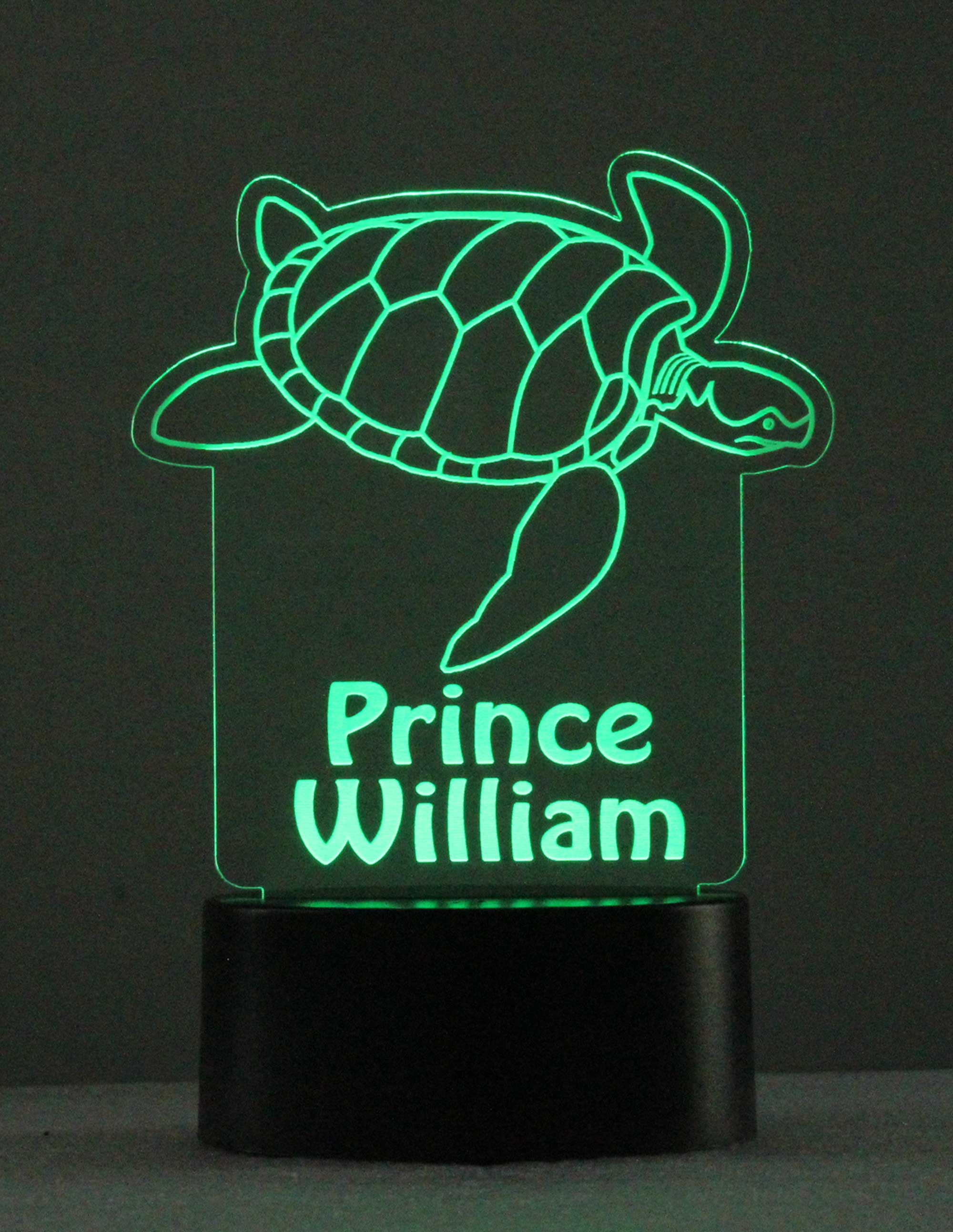 Custom Engraved Sea Turtle Night Light - USB - 110V - Battery