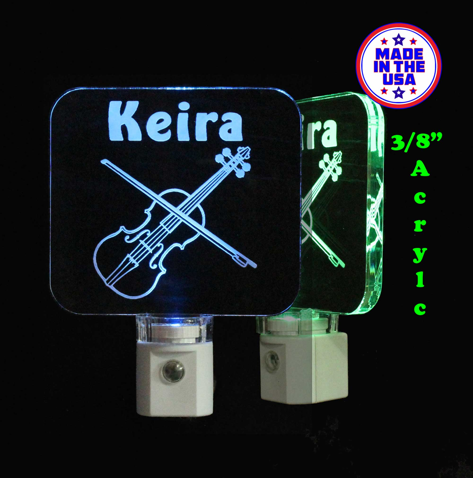Violin Night light Personalized