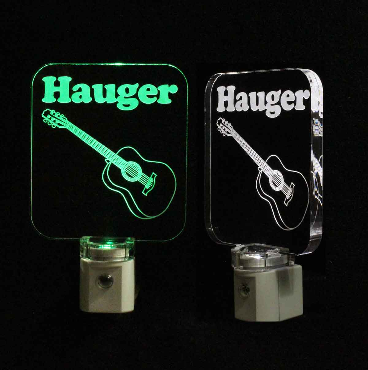 Personalized Acoustic Guitar Night Light