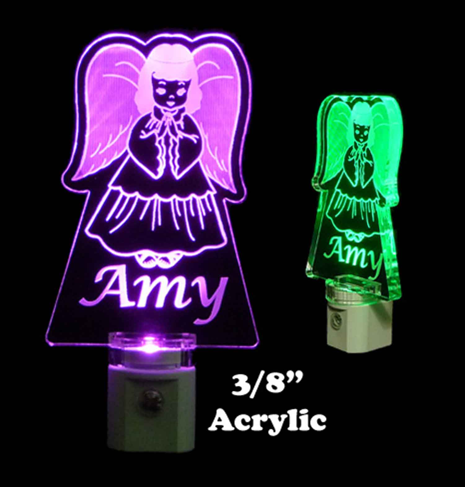 Personalized Angel LED Night Light