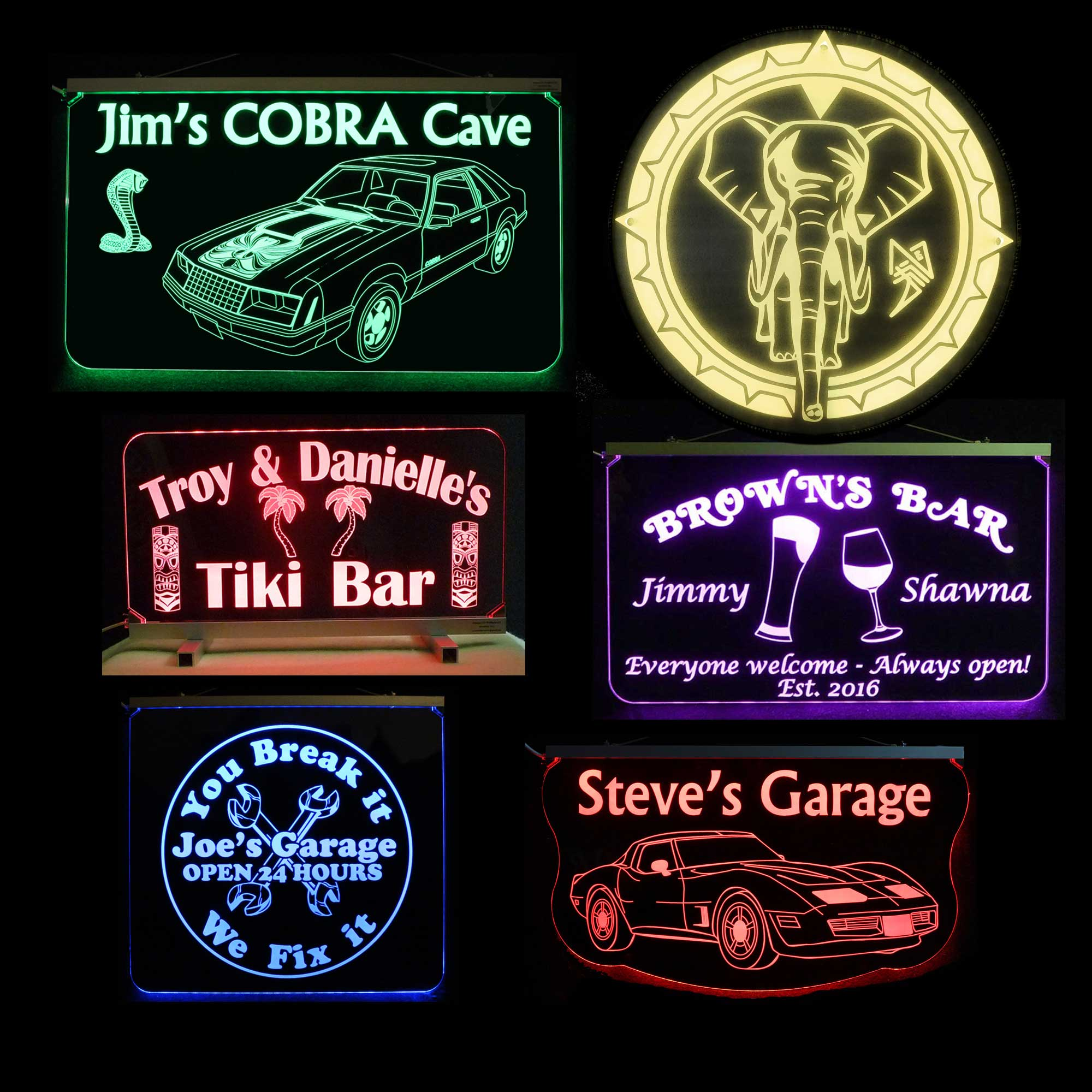 All Bar, Man Cave, Garage Signs