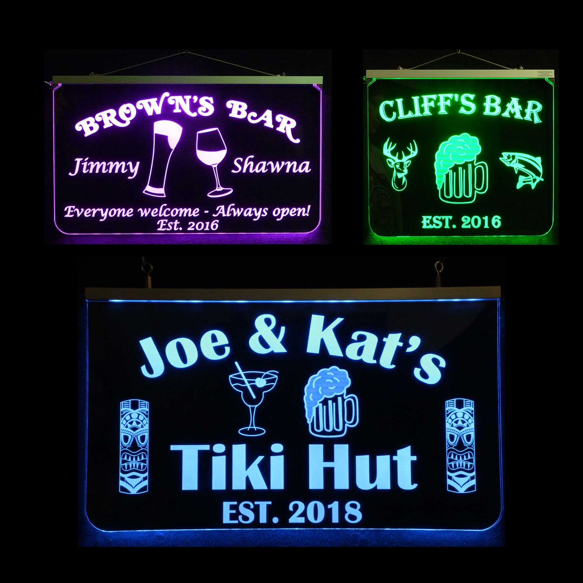 Bar signs beverage related signs