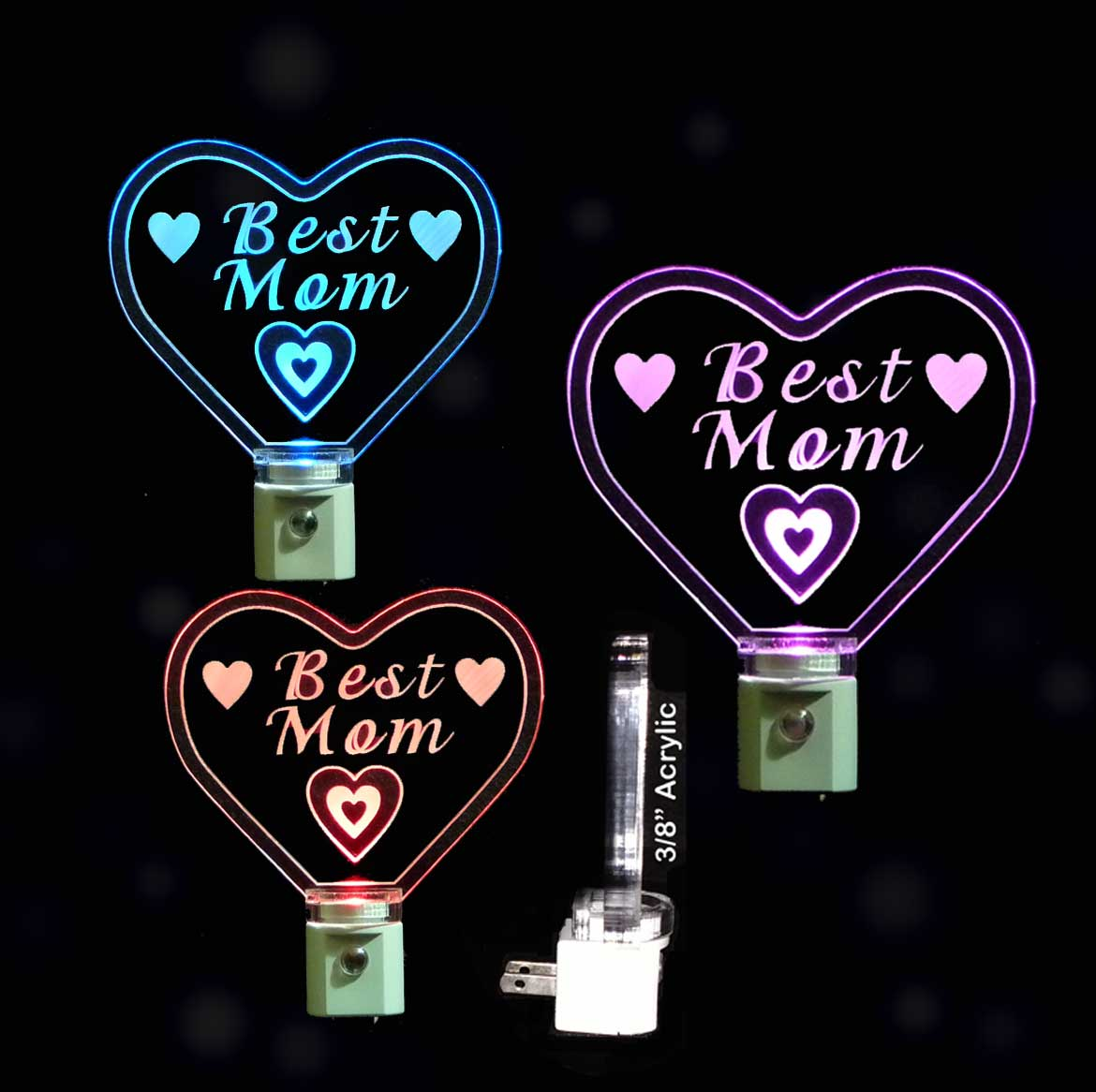 Best Mom Heart LED Night Light