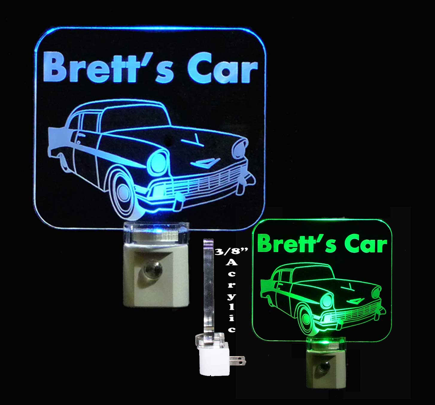 Personalized Chevy LED Night Light