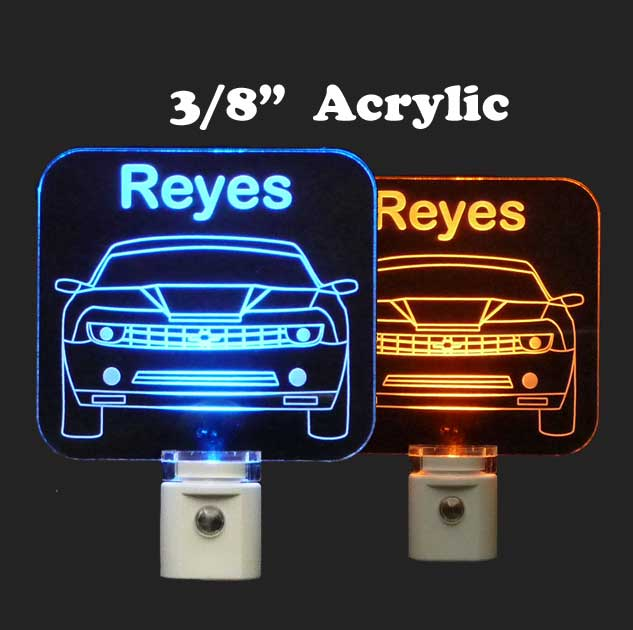 Personalized Camaro Night Light