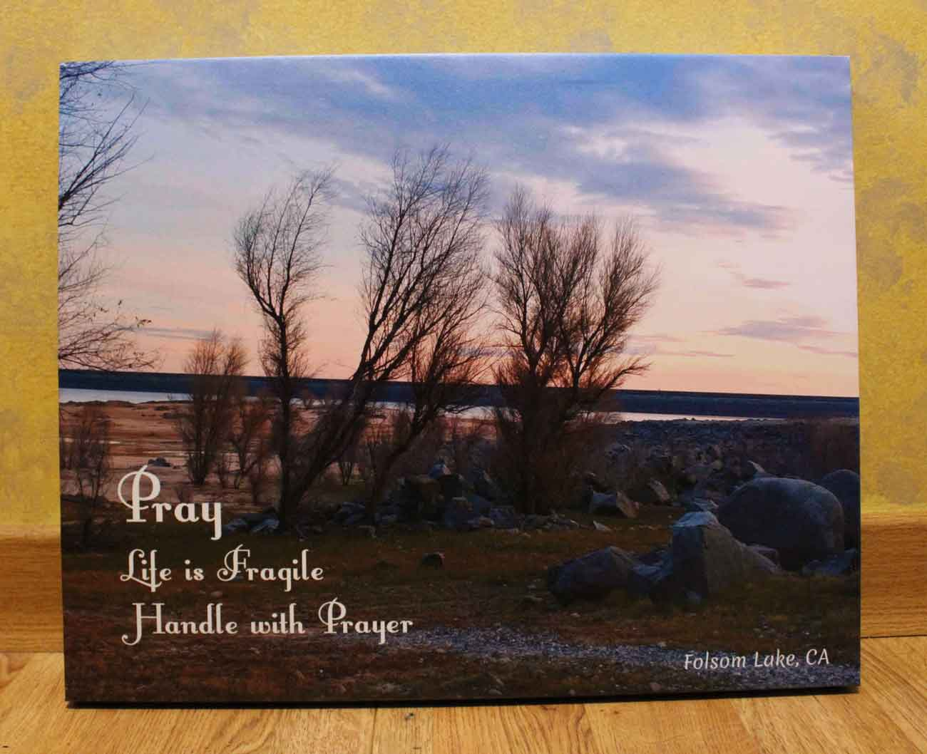 Folsom Lake UV Printed on Canvas - Christian Gift