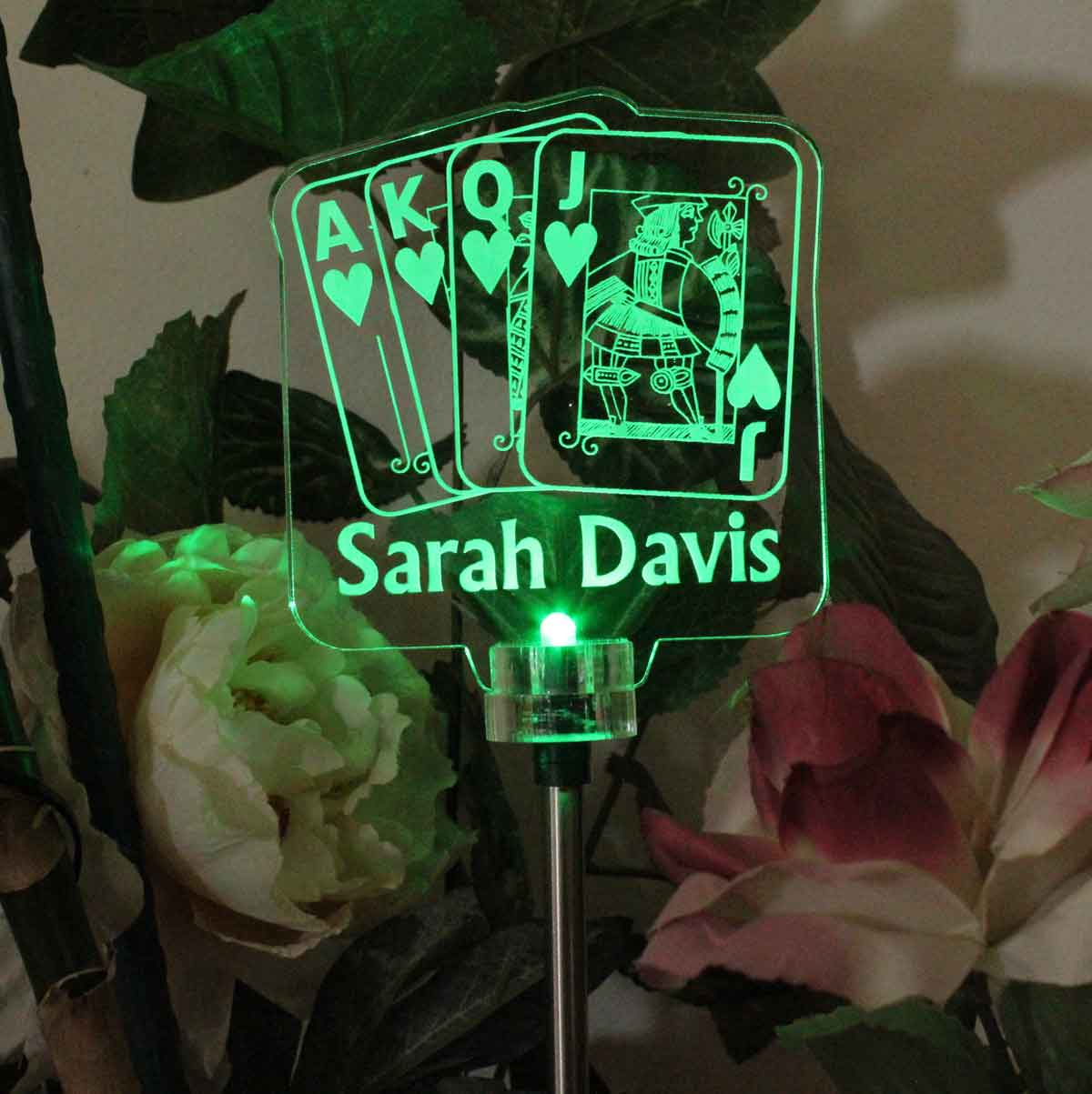 Personalized Solar Light - Deck of cards design