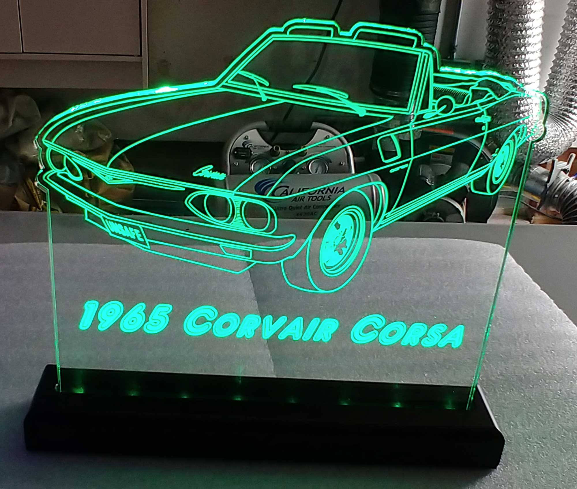 Personalized Corvair LED Neon Car sign