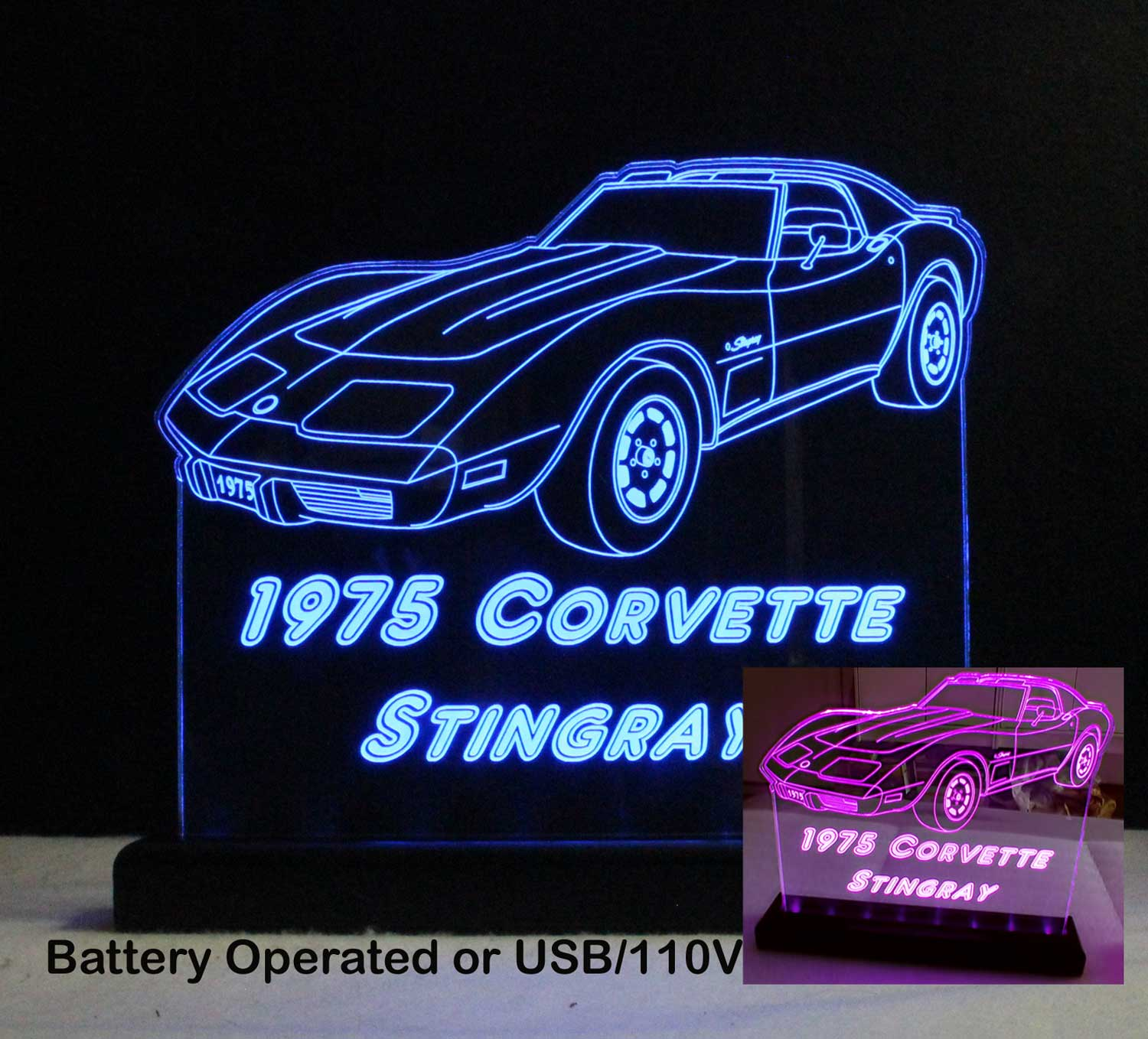 Personalized Corvette Car sign