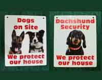 Funny dog security sign