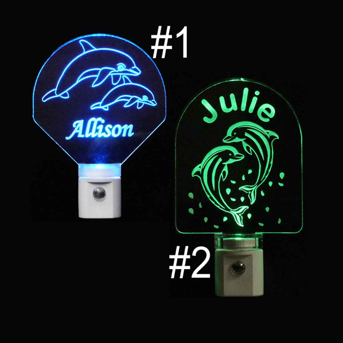 Dolphin Personalized LED Night Lights