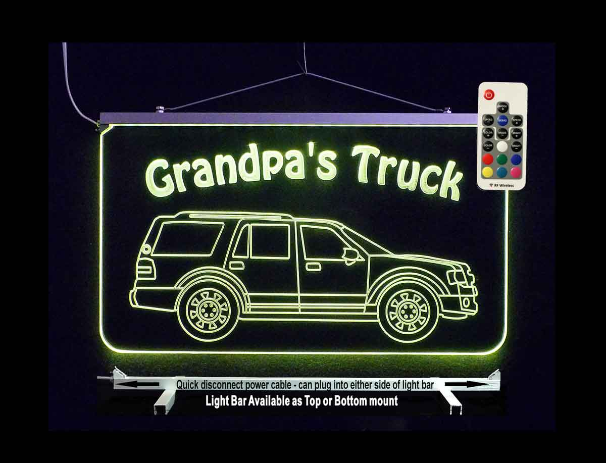 Personalized SUV Truck Garage Sign, Man Cave Sign, Bar Sign, Car sign
