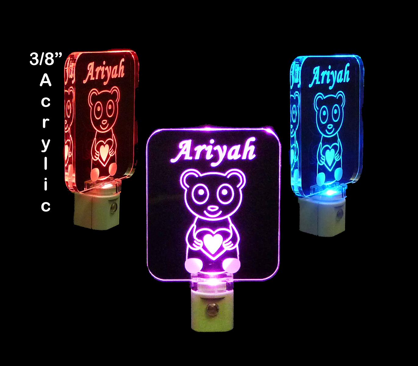 Kids Personalized Panda Bear LED Night Light