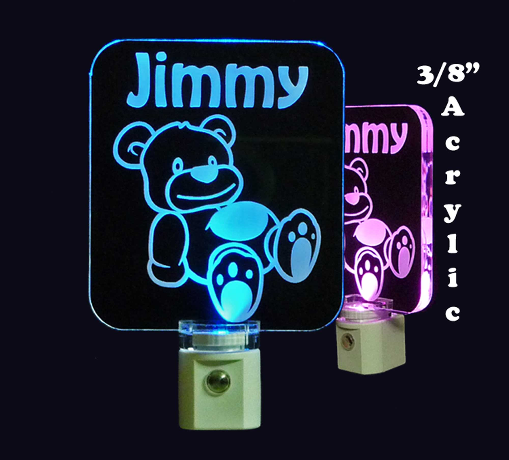 Kids Personalized Teddy Bear LED Night Light