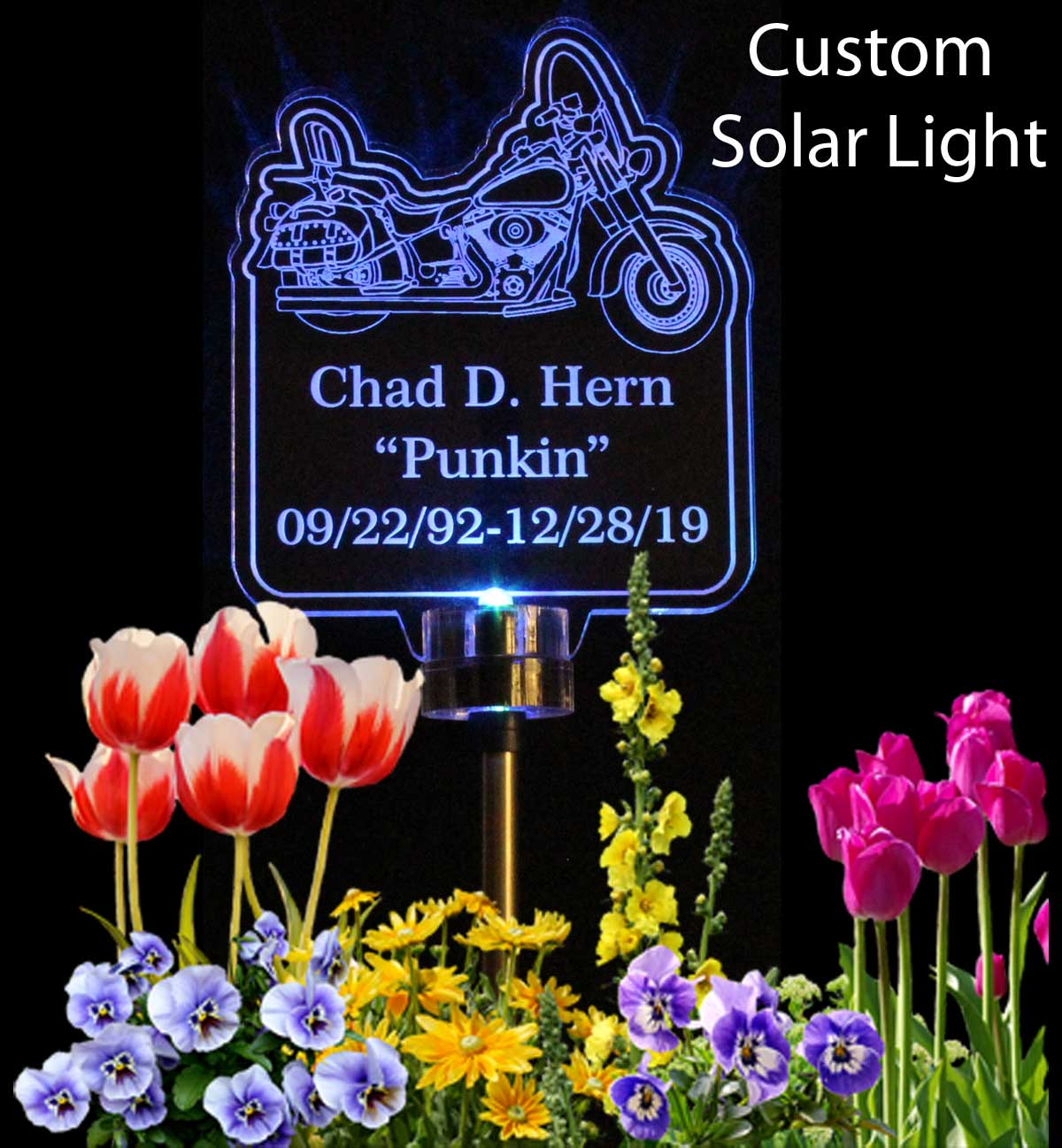 Personalized Motorcycle Solar Light