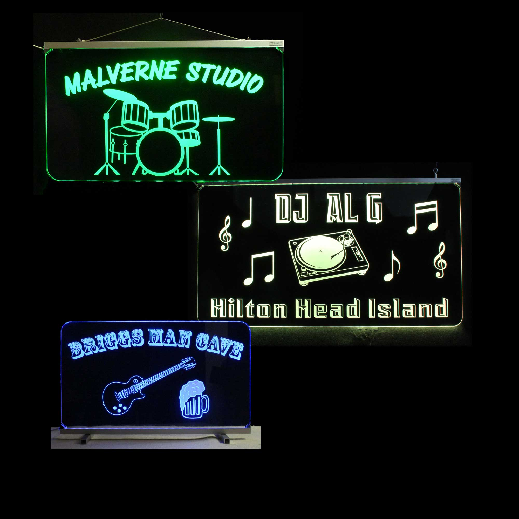 Custom DJ music Themed Signs
