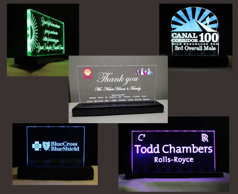 LED Name Plates and Desk Signs