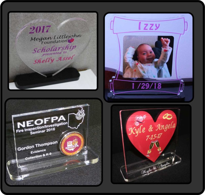 Acrylic Awards, Trophies, Plaques