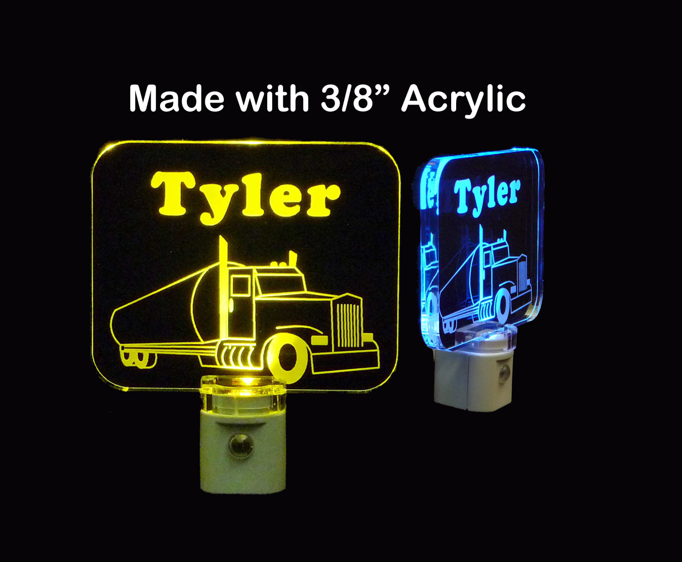 Personalized  Oil Rig Tanker Truck LED Night Light
