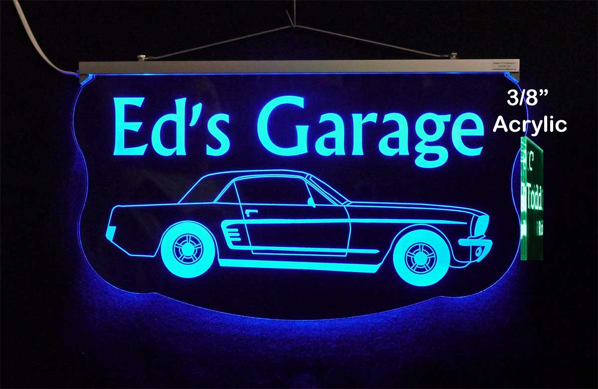 Ford Mustang Sign, Bar Sign, Pub Sign, Man Cave Sign, Garage Sign, Personalized