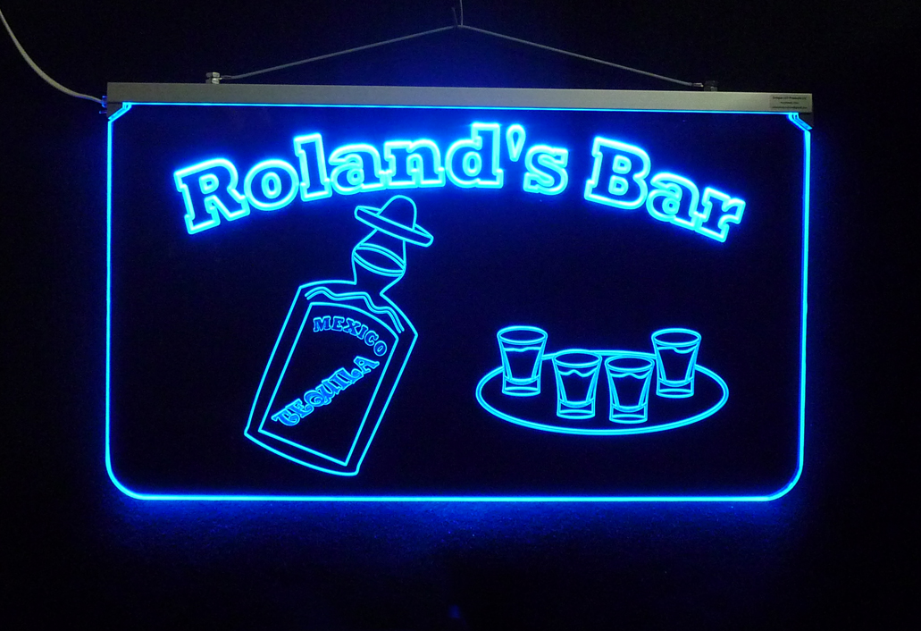 Personalized  LED Tequila Bar Sign, Man Cave Sign, Business Sign