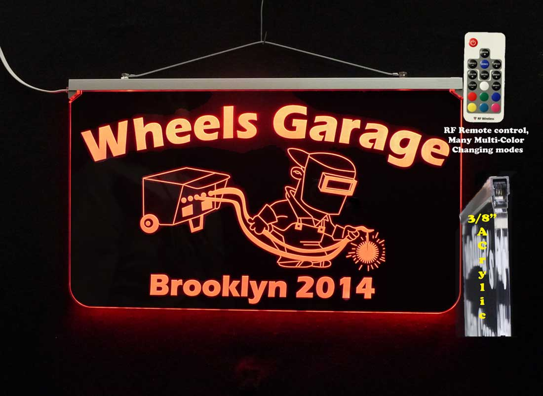 Personalized Welder Sign, Man Cave Sign, Garage Sign, LED Neon Business Sign