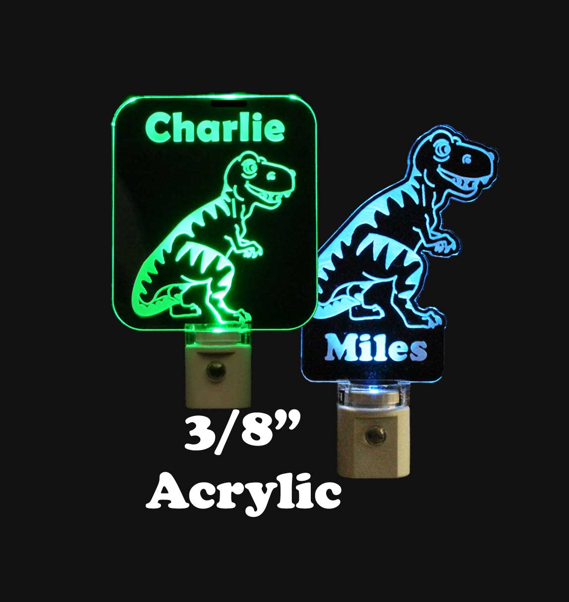 Personalized T-Rex Dinosaur LED Night Light