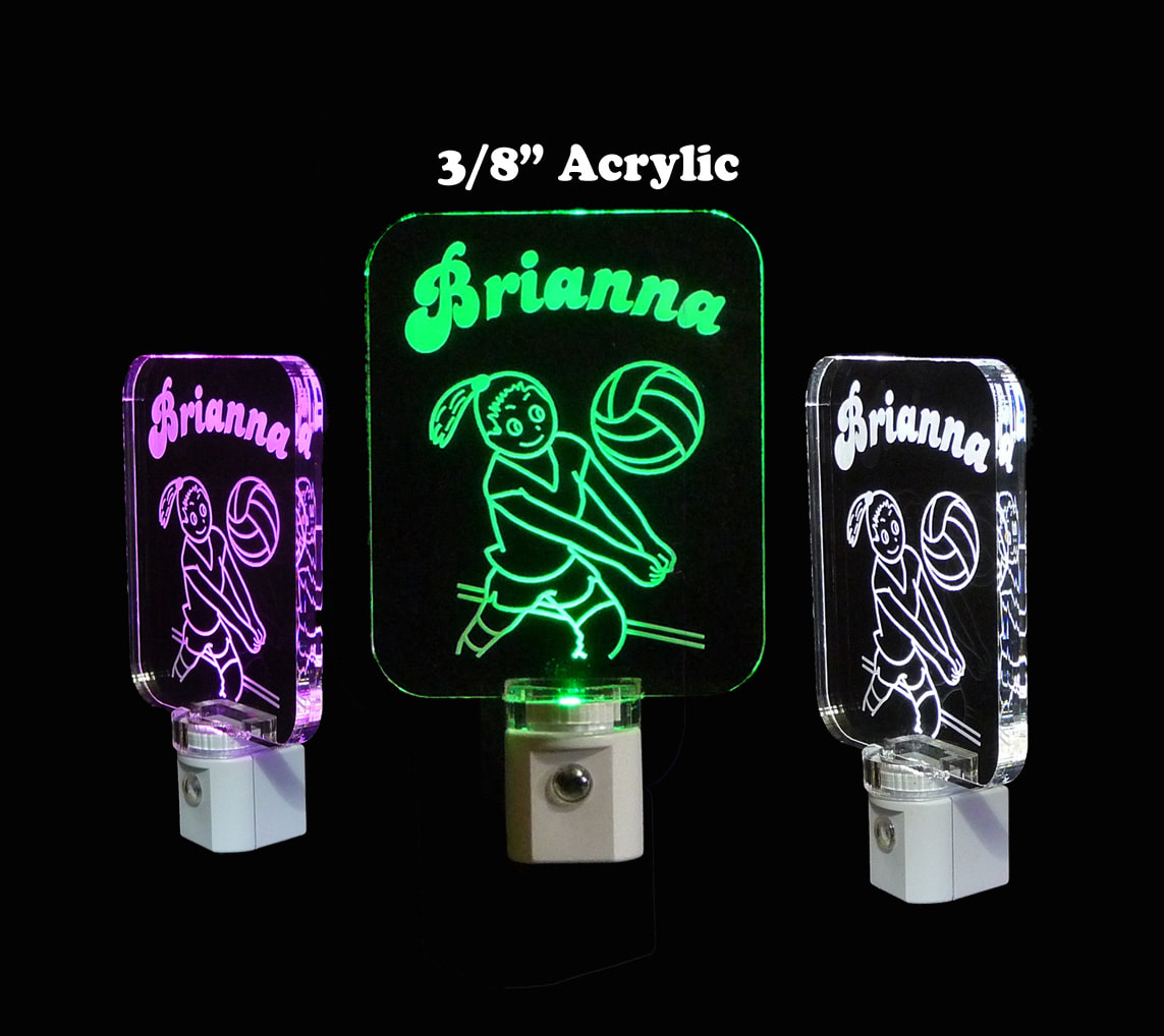 Girls Personalized Volleyball Night Light