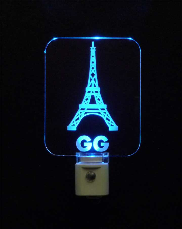 Personalized  Eiffel Tower LED Night Light