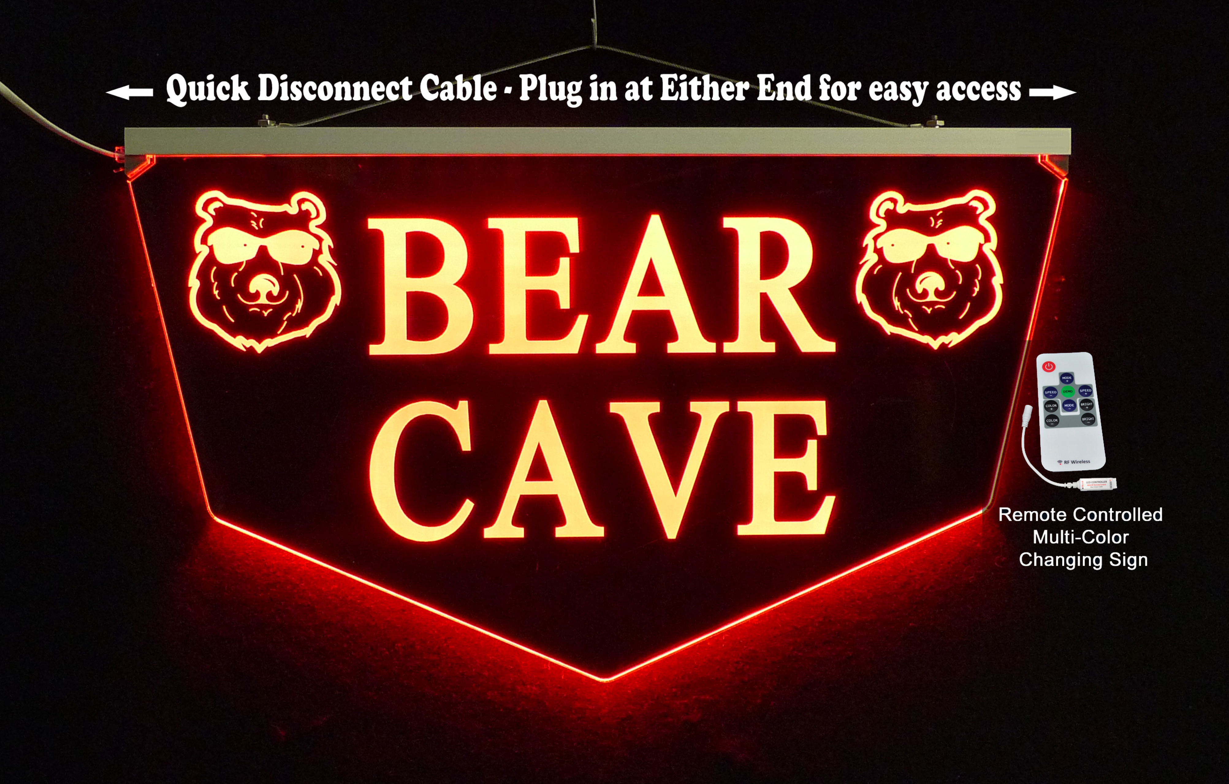 Personalized Bear Cave, Bar Sign, Man Cave Sign, Garage Sign