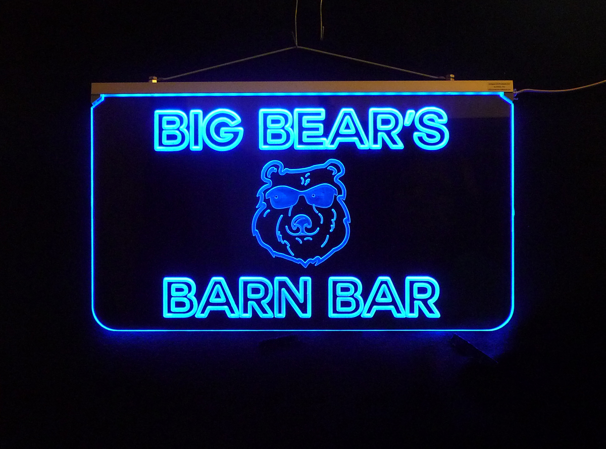 Personalized Bear Sign, Bar Sign, Man Cave Sign