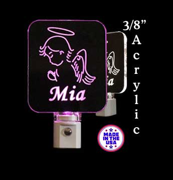 Personalized  Girl Praying Angel LED Night Light