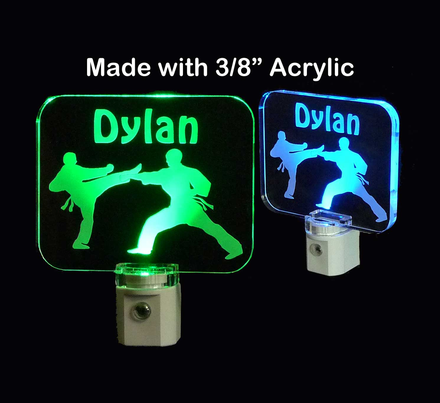 Personalized Karate Tae Kwon Do LED Night Light