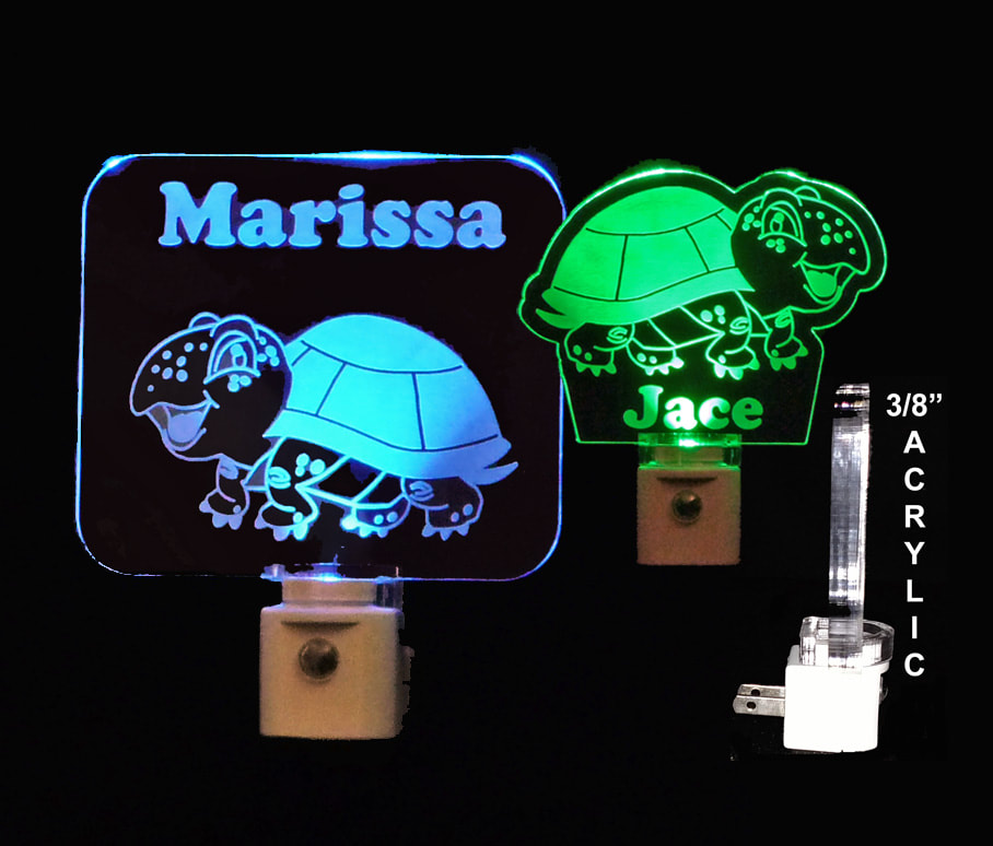 Personalized Turtle LED Night Light, Animal light